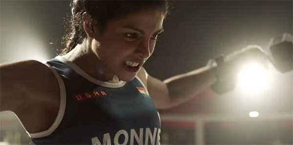 Mary Kom Priyanka Chopra Boxing Step Stills