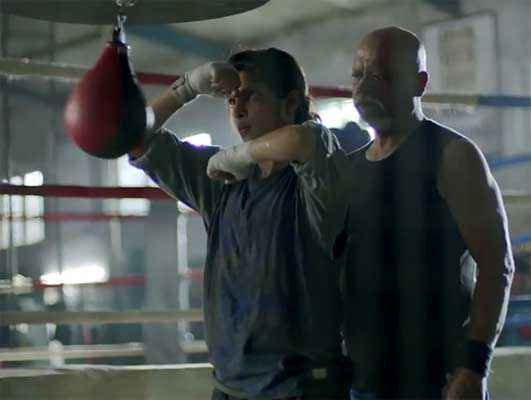 Mary Kom Priyanka Chopra Boxing Training With Sunil Thapa Stills