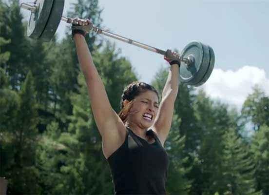 Mary Kom Priyanka Chopra Exercise Pics Stills