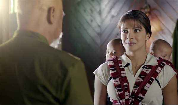 Mary Kom Priyanka Chopra With Coach Sunil Thapa Stills