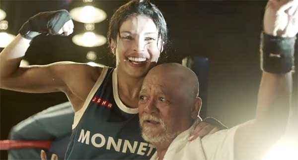 Mary Kom Priyanka Chopra With Sunil Thapa Stills