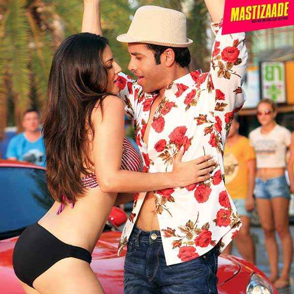 Mastizaade Sunny Leone In Black Bikini With Tusshar Kapoor Stills