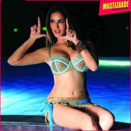 Mastizaade Sunny Leone In Green Short Dress Stills