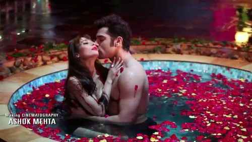 Midsummer Midnight Mumbai Paras Chhabra Sara Khan Hot Kissing In Red Rose Water Tuff Stills