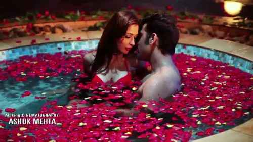 Midsummer Midnight Mumbai Paras Chhabra Sara Khan Hot Romance In Water Pool Stills