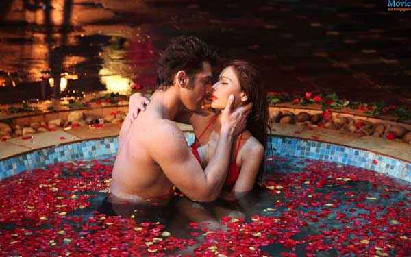Midsummer Midnight Mumbai Paras Chhabra Sara Khan Hot Romantic Scene Stills