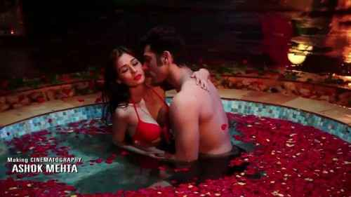 Midsummer Midnight Mumbai Paras Chhabra Sara Khan Sexy Romance In Water Pool With Red Rose Stills