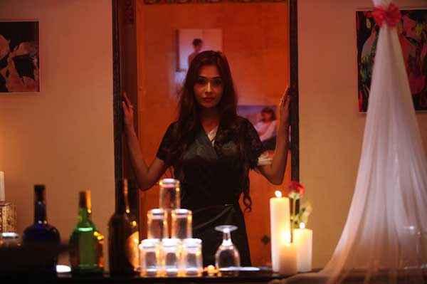 Midsummer Midnight Mumbai Sara Khan Romantic Night Dress Scene Stills