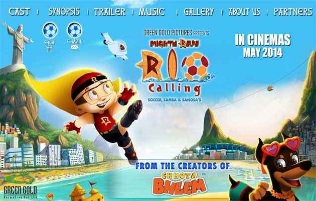 Mighty Raju Rio Calling  Poster