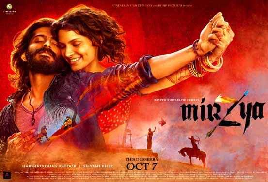 Mirzya Harshvardhan Kapoor Saiyami Kher Poster