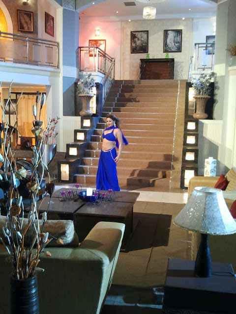 MMS Kand Sapna Tanveer In Blue Dress Stills