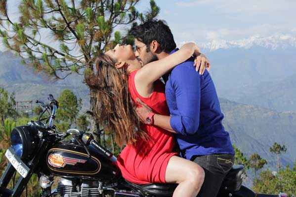 Monsoon Srishti Sharma Shawar Ali Hot Romance On Bike Stills