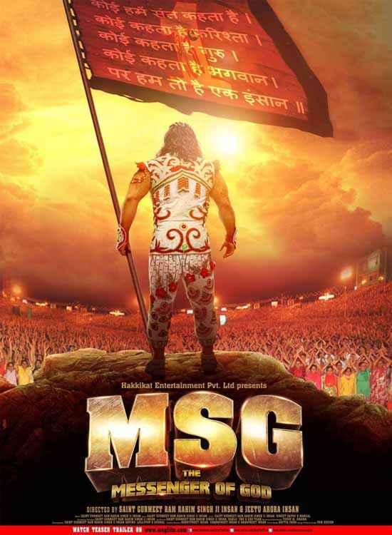 MSG The Messenger of God Saint Gurmeet Ram Rahim Singh Ji Insan Image Poster
