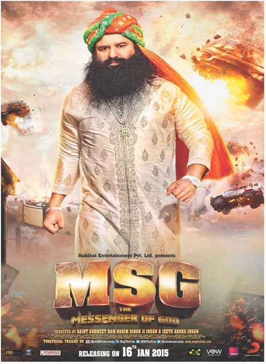 MSG The Messenger of God Saint Gurmeet Ram Rahim Singh Ji Insan Poster