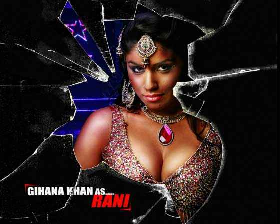 Mumbai Mirror Gihana Khan Hot Boobs Poster