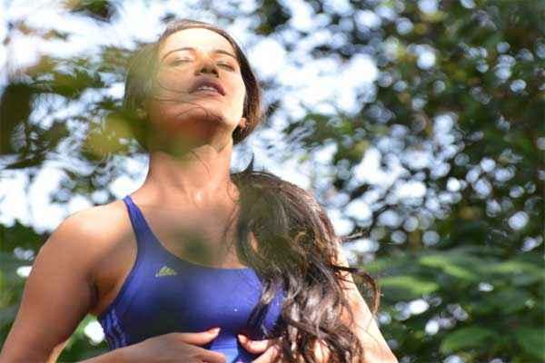 Nasha Hot Poonam Pandey in Blue Bikini Stills