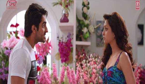Nautanki Saala Ayushman Pooja Salvi Love Scene Stills