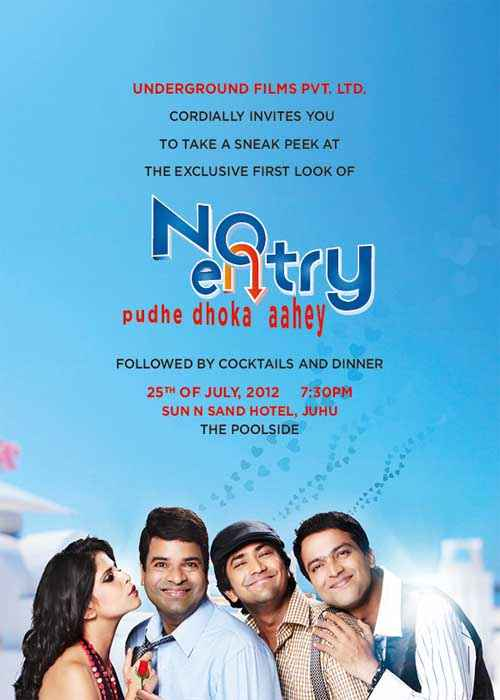 No Entry Pudhe Dhoka Aahe Images Poster