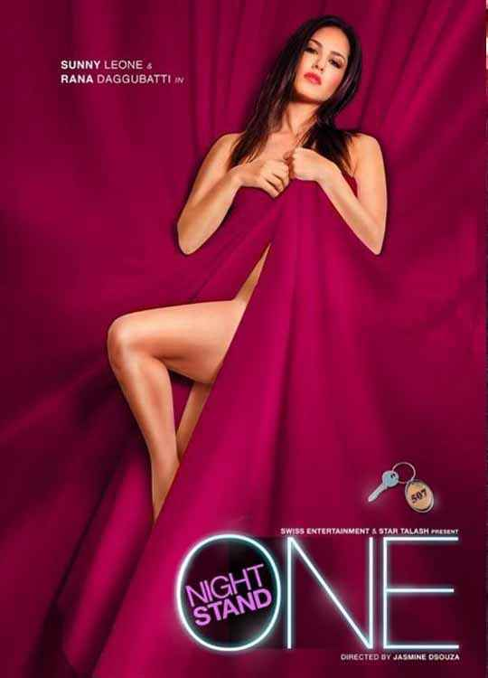 One Night Stand Sunny Leone Hot Poster