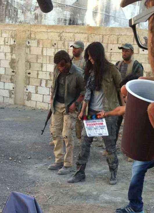 Phantom Saif Ali Khan Katrina Kaif At Shooting Location Stills