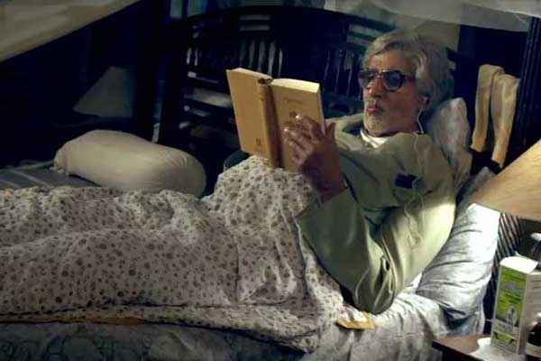 Piku Amitabh Bachchan Reading Book Stills