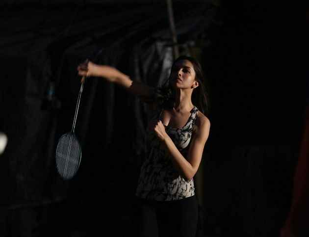 Piku Deepika Padukone Playing Badminton Stills