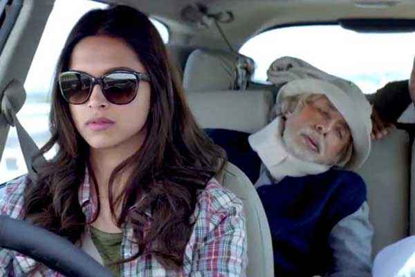 Piku Deepika Padukone With Goggle Driving Car Stills