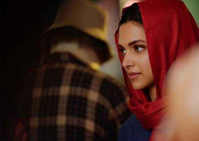 Piku Deepika Padukone With Red Scarf Stills