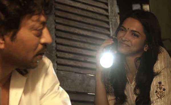 Piku Irfan Khan Deepika Padukone With Tourch Stills