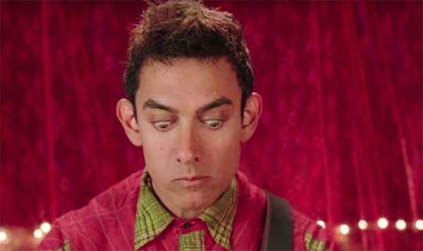 PK (PeeKay) Aamir Khan Eyes Comedy Stills