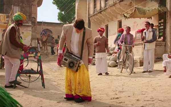 PK (PeeKay) Aamir Khan In Yellow Lehenga Stills