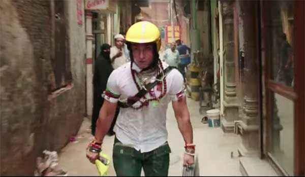 PK (PeeKay) Aamir Khan With Helmet Stills