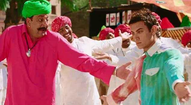 PK (PeeKay) Sanjay Dutt Aamir Khan Dance Stills