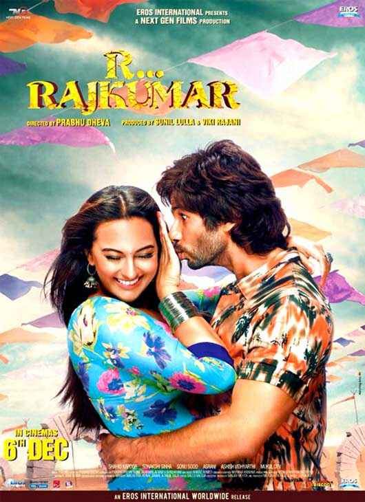 R Rajkumar Shahid Kapoor Sonakshi Sinha Kiss Poster
