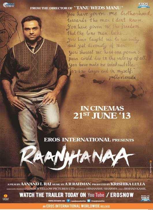 Raanjhnaa Abhay Deol Poster