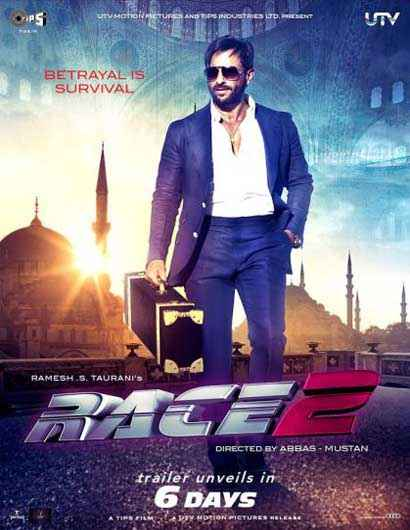 Race 2 Saif Ali Khan Poster