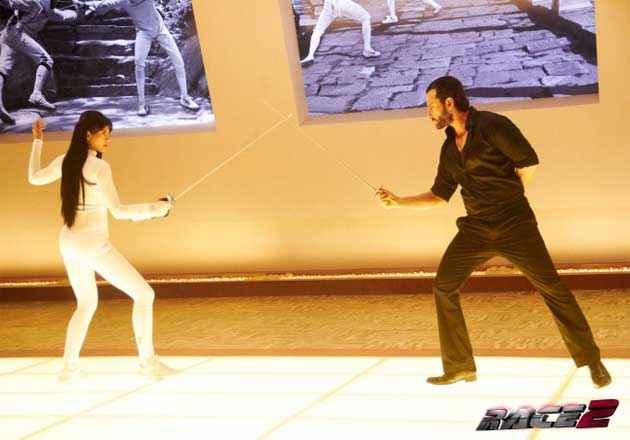 Race 2 Saif Ali Khan Deepika Padukone Fitting Scene Stills