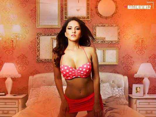 Ragini MMS 2 Hot Sunny Leone Red Dress Stills