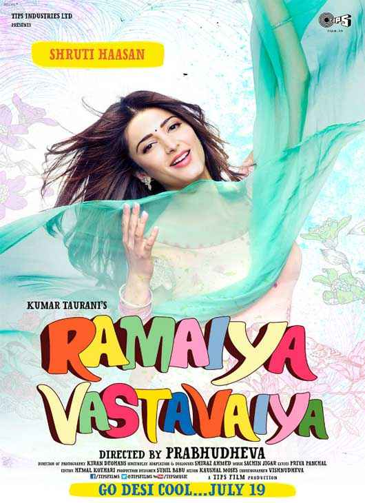 Ramaiya VastaVaiya Shruti Haasan Hot Poster