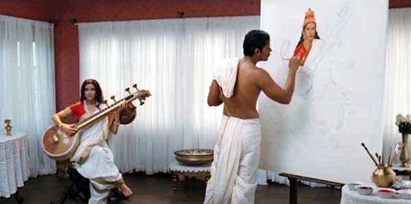 Rang Rasiya Randeep Hooda Making Painting Of Nandana Sen Stills