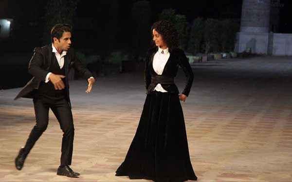 Revolver Rani Vir Das Kangna Ranaut In Black Dress Stills