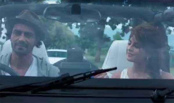 Roy Arjun Rampal Jacqueline Fernandez In Car Stills
