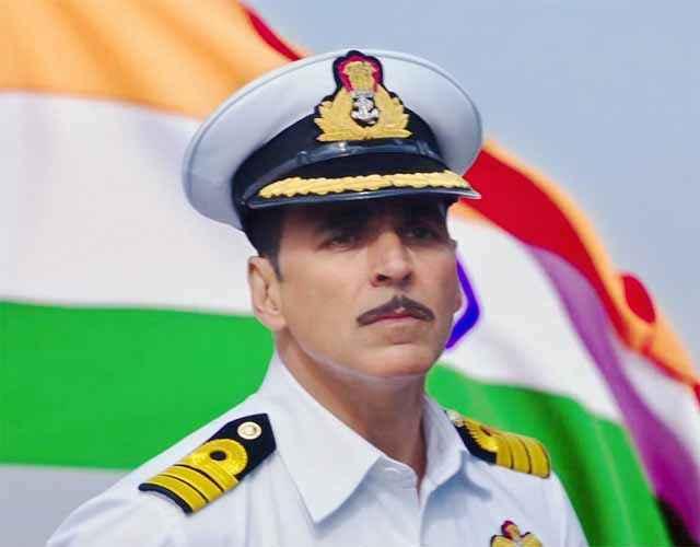 Rustom Akshay Kumar In White Army Dress Stills