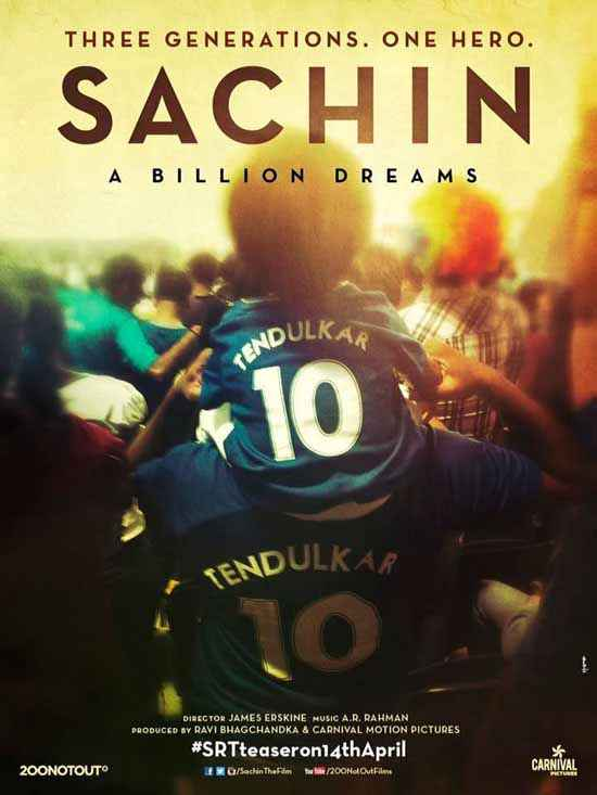 Sachin - A Billion Dreams First Look Poster