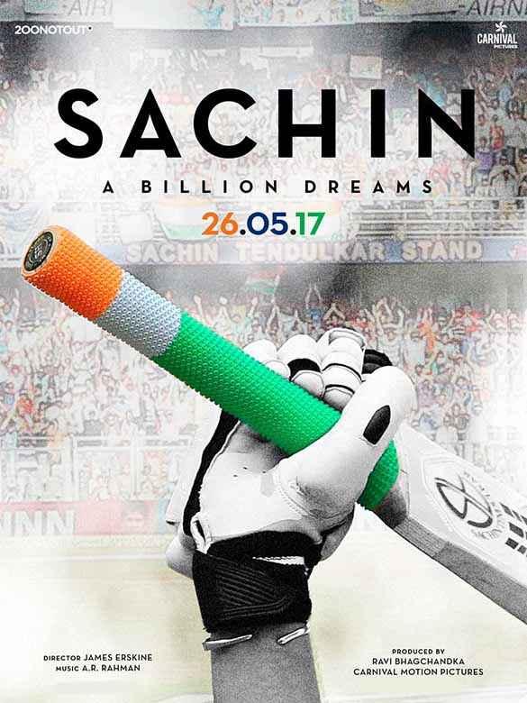 Sachin - A Billion Dreams Sachin Bat Poster