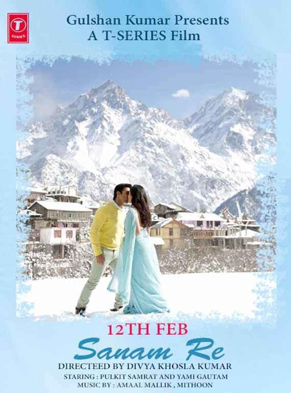 Sanam Re Pulkit Samrat Yaami Gautam Kissing Poster