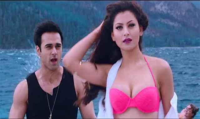 Sanam Re Hot Urvashi Rautela Boobs Cleavage Stills