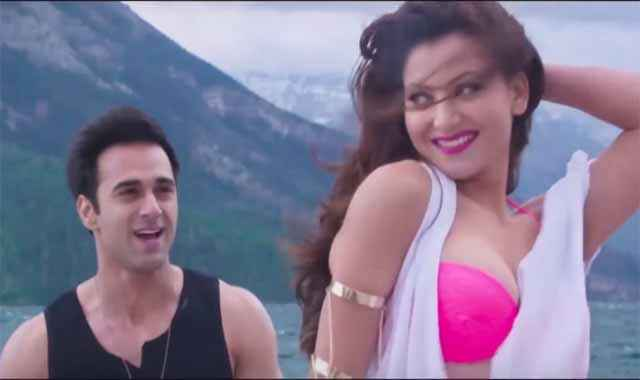 Sanam Re Pulkit Samrat And Urvashi Rautela In Pink Bra Stills