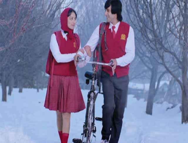 Sanam Re Pulkit Samrat Yaami Gautam in Red School Dress Stills