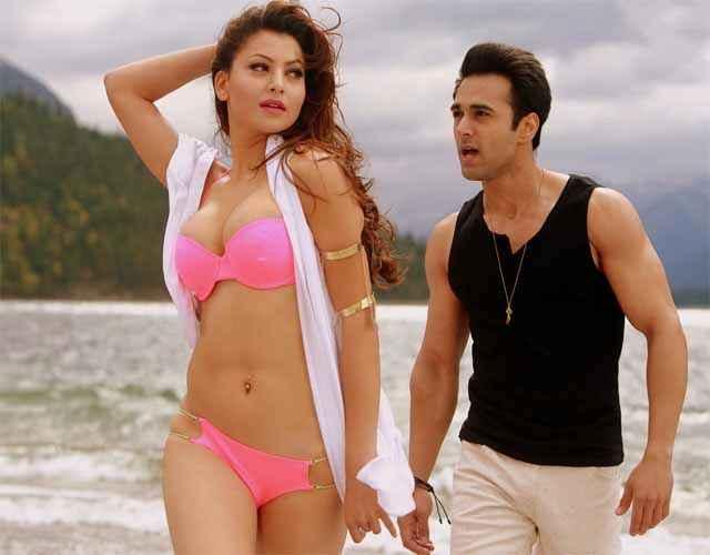 Sanam Re Urvashi Rautela Hot Boobs In Ping Bikini Stills